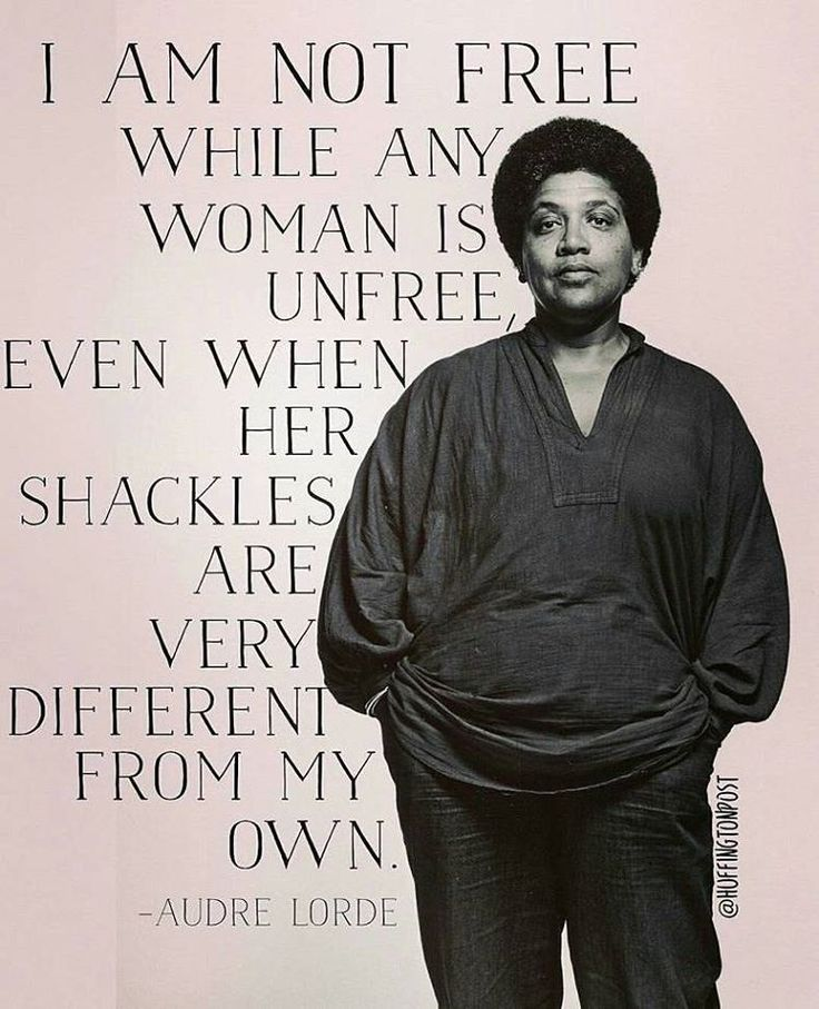 GIRLBOSS ICON: Audre Lorde, I am not free while any woman is unfree, even when her shackles are very different from my own.
