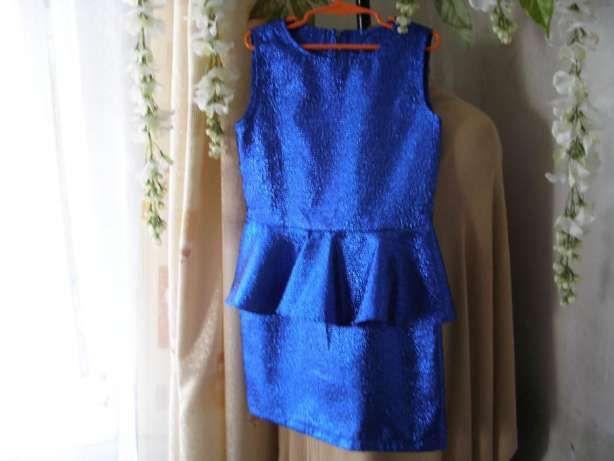 Нарядное платье для девочки---цвет электрик. Днепр - изображение 1