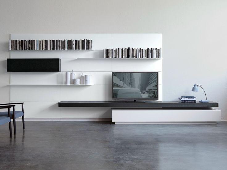 Módulo de arrumação de parede montada na parede LOAD IT Coleção Modern by Porro   design Piero Lissoni