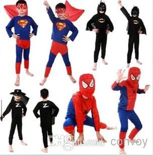 Best Quality Retail Costumes Halloween Children Boys Halloween Costumes Super Heroes Zorro Batman Superman Spiderman Costume For Kids Boys Hc10 At Cheap Price, Online Theme Costume | Dhgate.Com
