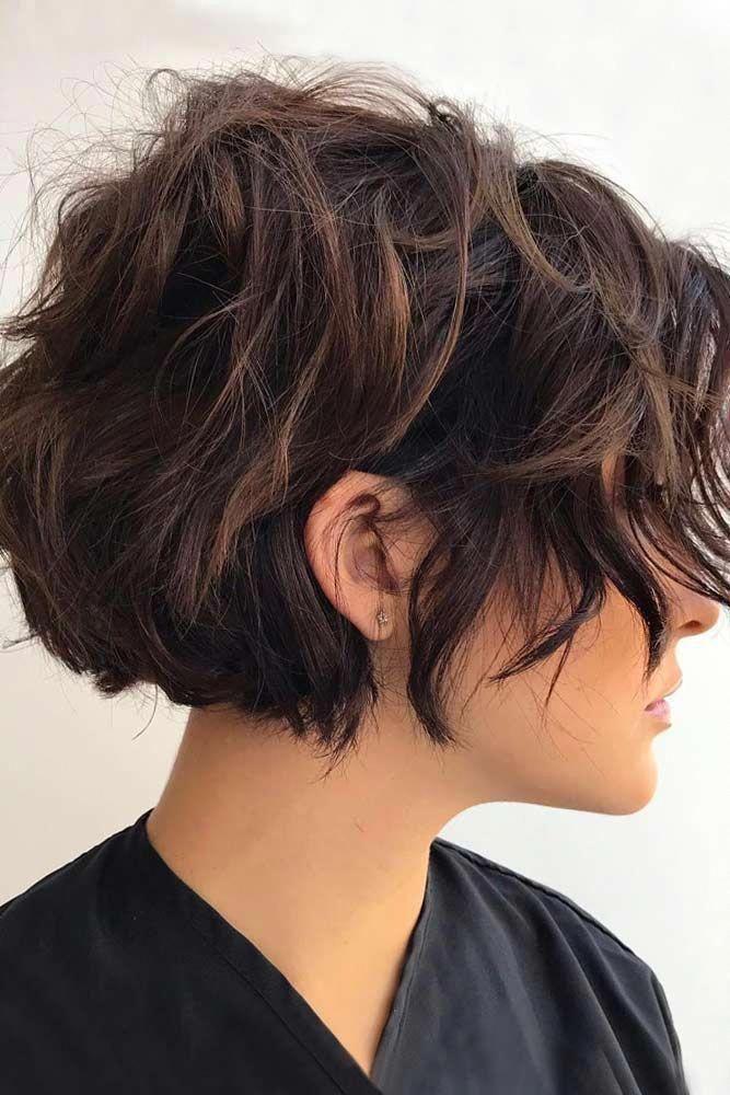 Layered Short Hair 45 Ideas To Rock Your Short Curly Hair Lovehairstyles Haircuts Hairideas C Short Hair With Layers Thick Hair Styles Short Curly Hair