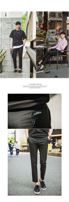 [[KT.53] 백포켓 패치 TR 스판 슬랙스] 남자 슬랙스 남성 패션 남성의류 쇼핑몰 게리오