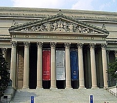 National Archives, Washington DC.  Lines are long during tourist season, but it is very moving to gaze upon our founding documents. Go early in the morning.