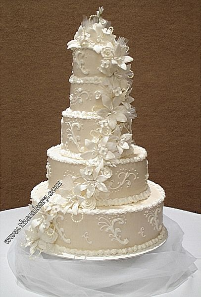256 Best White And Ivory Wedding Cakes Images On Pinterest