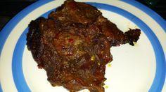 garlic, soy & honey pork shoulder steaks