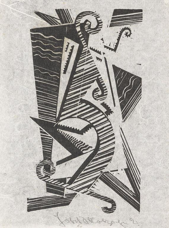 Molzahn, Johannes  Komposition (Opus XXXIII), 1921.