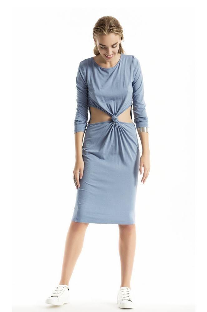 Combo Dress Light Blue