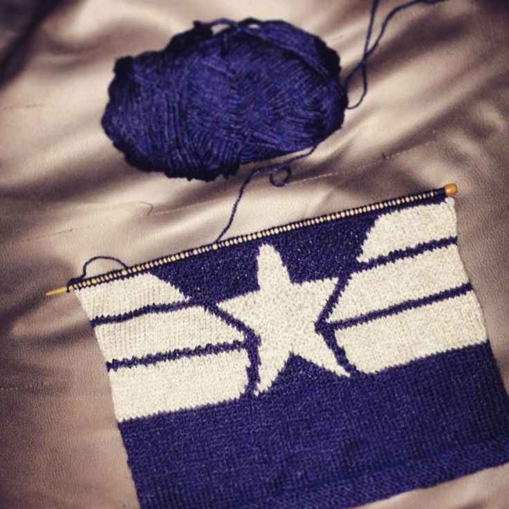 Work in progress shot of my Captain America Winter Soldier inspired cushion :-)