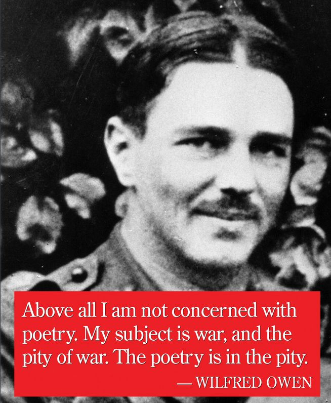 """Above all I am not interested in poetry. My subject is war, and the pity of war. The poetry is in the pity"" - ten great First World War poems, including one by Wilfred Owen http://theweek.io/UMZkiQ"