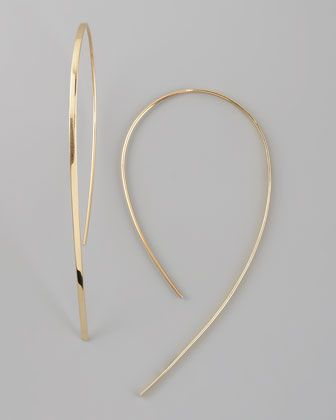 Small Flat Hook-On Hoop Earrings by Lana at Neiman Marcus.