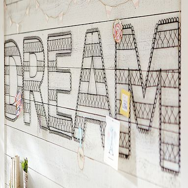 Wire Wall Letters - you can pick your own work like maybe your name