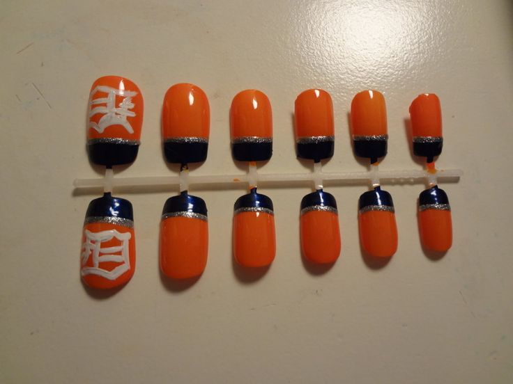 The 25 best tiger nail art ideas on pinterest tiger nails kid i found this fitting since baseball season is back and i have to represent my team detroit tigers nail art prinsesfo Gallery
