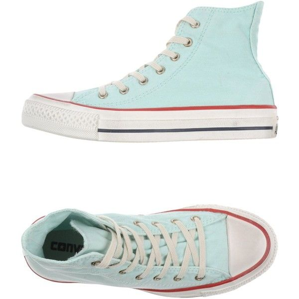 Converse All Star Sneakers ($72) ❤ liked on Polyvore featuring shoes, sneakers, sky blue, converse shoes, round toe sneakers, rubber sole shoes, round toe shoes и round cap