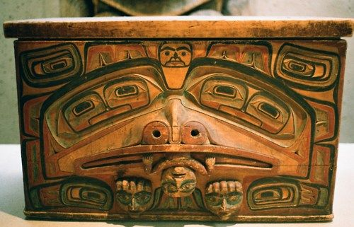 Haida chest of cedar--Museum of Anthropology, Vancouver