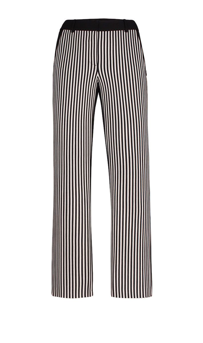 Spirited black and white stripe pant   Carlisle Collection | Per Se | Collections | Lookbook | Per Se | Holiday 2013 | 2