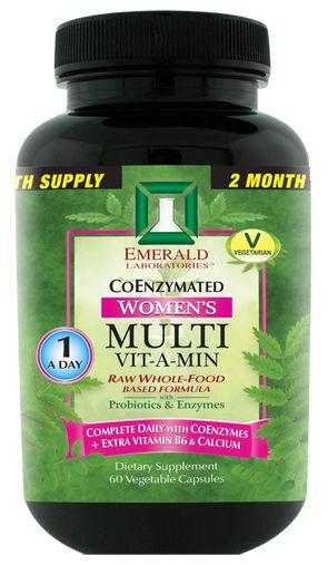 Emerald Labs CoEnzymated Women's 1-Daily Multi Vitamin, 60 ct plus antioxidants…