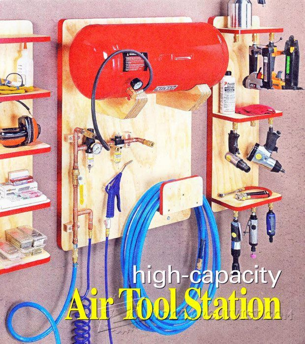 Air Tool Station Plan - Workshop Solutions Plans, Tips and Tricks | WoodArchivist.com