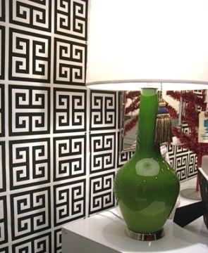 Jonathan Adler wallpaper: Keys Patterns, Greekkey, Adler Wallpapers, Keys Wallpapers, Living Room, Greek Keys, Green Lamps, Jonathan Adler, Design