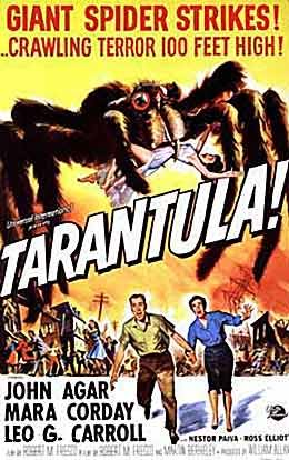 1955 film 'Tarantula'.  Another giant creature feature.  (25-year-old Clint Eastwood had an uncredited role as a jet pilot at the end of this movie.)