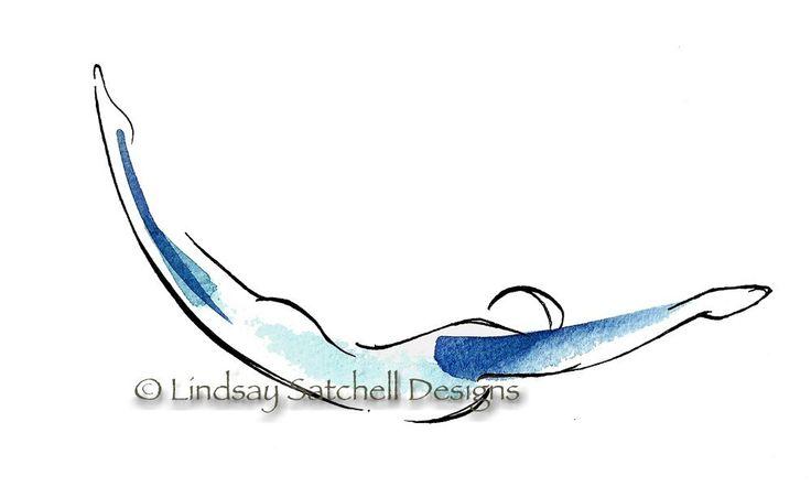 pilates art print swan dive by LindsaySatchell on Etsy