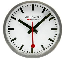 Mondain Swiss Railway clock