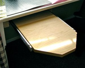 Hiding your ironing board has never been easier! Watch this video from Maureen Wilson and learn how to make a slide-out ironing board that you can stow under your sewing table or desk.