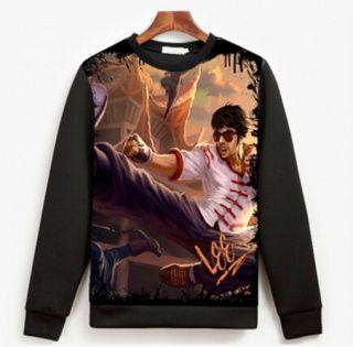 LOL Dragon Fist Lee Sin camisola para homens League of Legends camisola XXXL