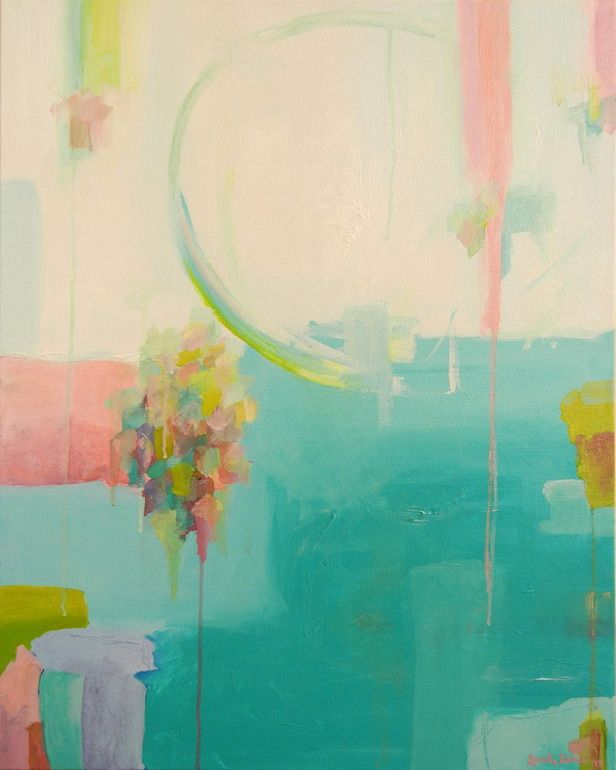 """Saatchi Art Artist: Sarah Stokes; Acrylic 2013 Painting """"Fly Me to the Moon"""""""