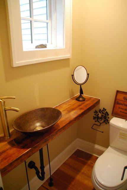 39 best half bath ideas images on pinterest architecture - Small half bathroom layout ...