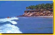 VARKALA is the small town of Kerala, on the Arabian Sea.Varkala has been a Hindu pilgrimage site since the 12th Century.It offers very fine virgin beaches where one can relax and enjoy the tropical beauty in peace.