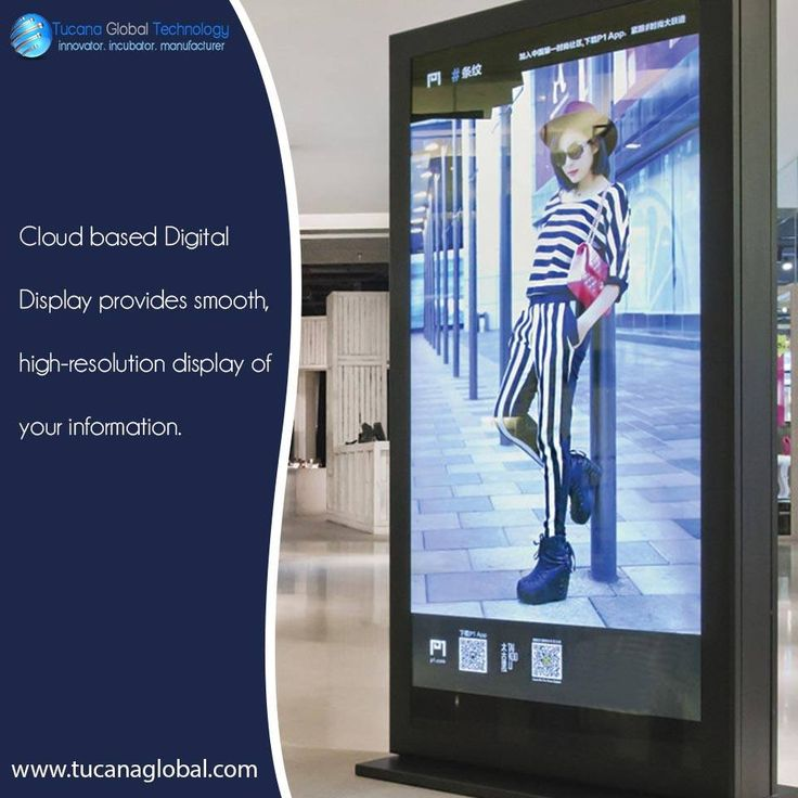 #Cloud based #DigitalDisplay provides #smooth, high-resolution #display of your #information. #TucanaGlobalTechnology #Manufacturer #HongKong