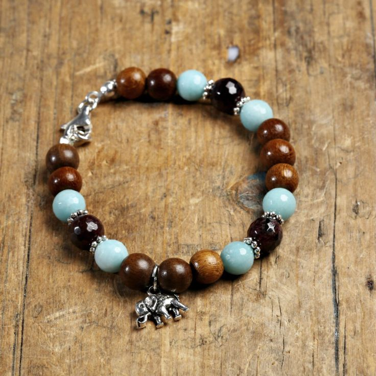 A personal favorite from my Etsy shop https://www.etsy.com/listing/267156672/mystical-rosewood-and-amazonite-bracelet
