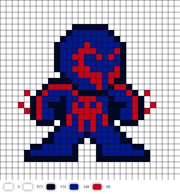 pixel art spiderman