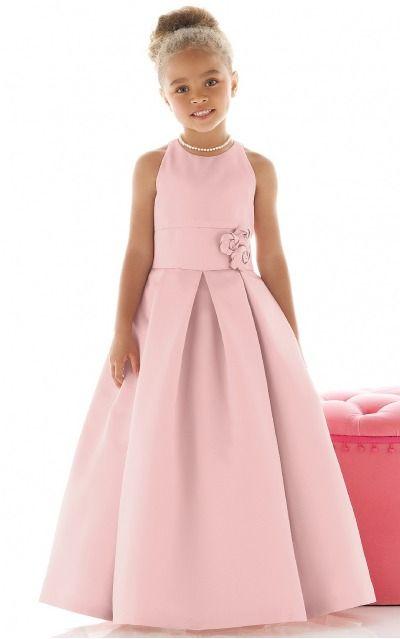 Satin Jewel Natural Princess Ankle-length Bridesmaid Dresses 0740058