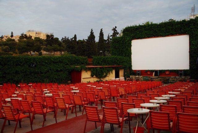 summer cinema under the Acropolis, Athens, Greece