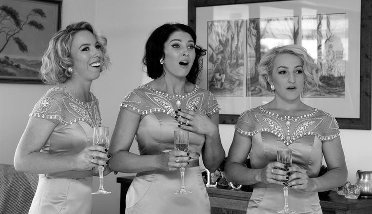 Bridemaids reaction to Bride in her dress Salt Studios  Toowoomba Wedding and Commercial Photography