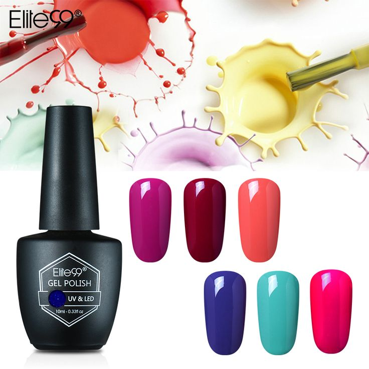 Discount Elite99 10ml Gel Varnish Soak Off Nail Art Gelpolish Semi Permanent Gel Nail Varnish Gorgeous Colors. Click visit to read descriptions #NailGel