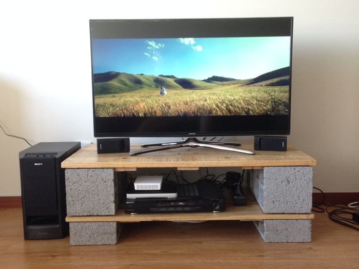 10 best images about tv stands on pinterest simple landscaping blocks and cinder block shelves. Black Bedroom Furniture Sets. Home Design Ideas