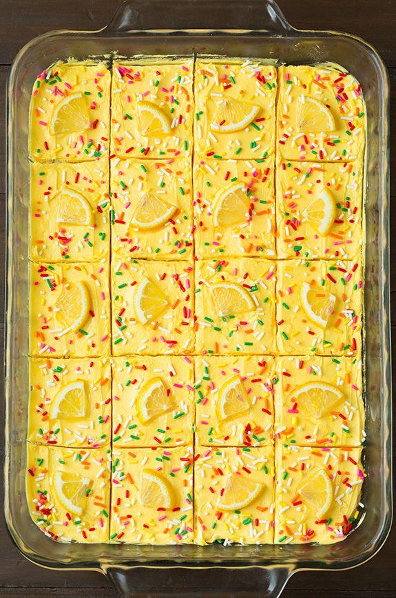Lemon Sugar Cookie Bars for a yummy summer treat!