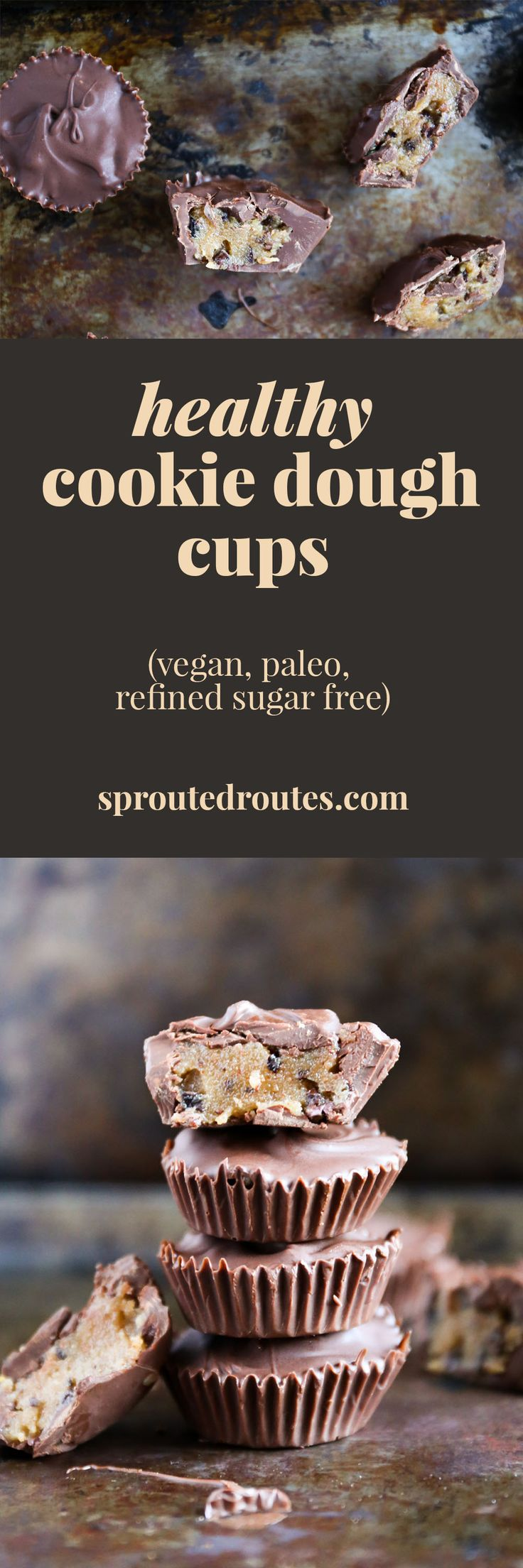 Healthy, vegan cookie dough cups made easy in the Vitamix!