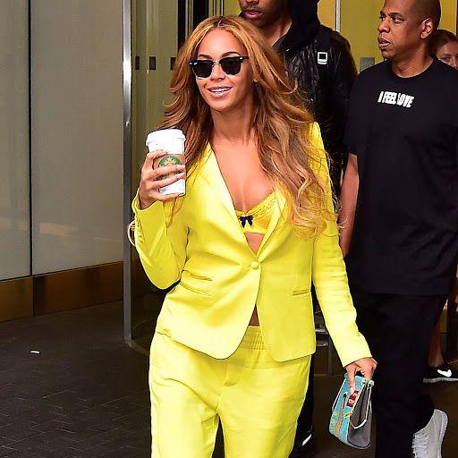 Beyonces Yellow Suit?
