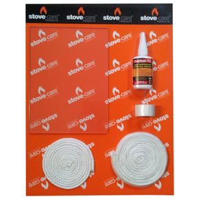 Replacement Glass Pack - Stockton 11 (2 Door) - Everything you need to replace your glass and seals in your stove. Pack contains:- Heat resistant glass, cut to the exact size of the door.  Ceramic fire rope cut to correct length and of the correct diameter to reseal the door of your stove. Ceramic fire rope cut to correct length and of the correct diameter to hold the glass in place on your stove. Specially formulised glue to stick the ceramic fire rope into place. A length of rope sealing…