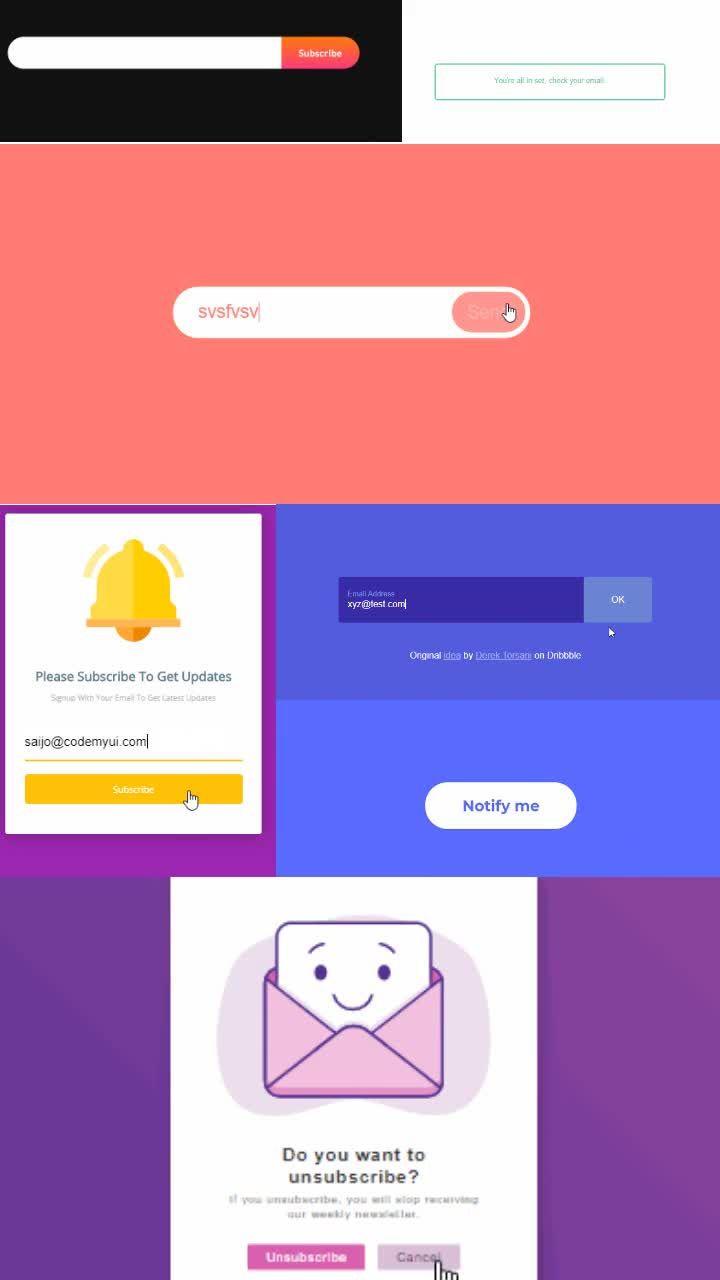 20 Email Signup Forms Design Inspiration Html Css Snippets 3 ℂ𝕠𝕕𝕖𝕄𝕪𝕌𝕀 In 2020 Form Design Design Inspiration Wellness Design