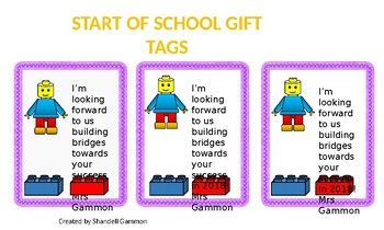 A welcome gift tag for your new students.