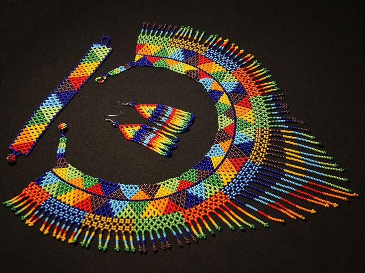 3 piezas conjunto de joyas nativa americano collar con aretes