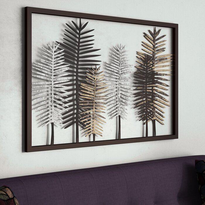 Wrought Studio Leaves Metal Iron Wall Decor Reviews Wayfair Metal Tree Wall Art Iron Wall Decor Wrought Iron Wall Art