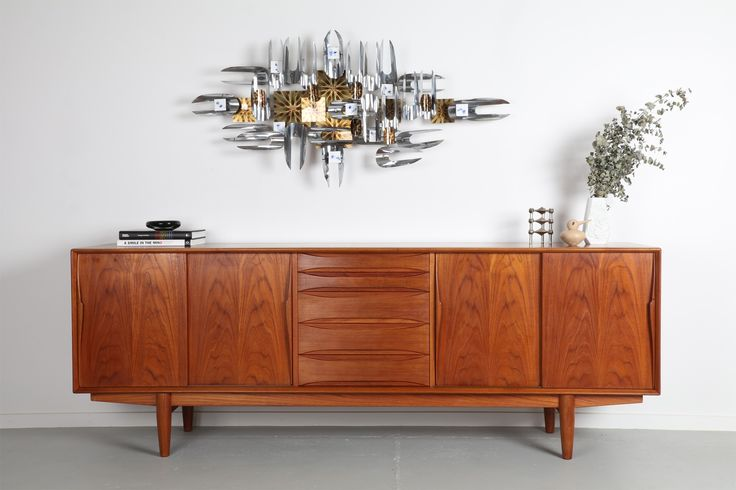 IMPRESSIVE DYRLUND TEAK SIDEBOARD  / Mr. Bigglesworthy - Mid Century Modern and Designer Retro Furniture