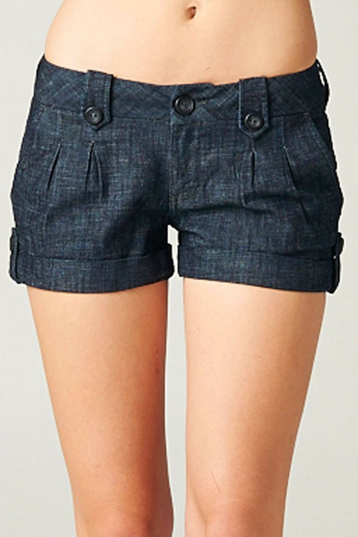 Sneak Peek Kayla Denim Shorts in Indigo - Beyond the Rack
