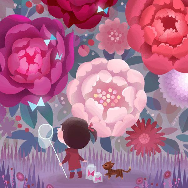 joey Chou: Joey Chou, Art Director, Little Girls, Girls Generation, Illustrations, Comic, Joeyart, Joey Art, Flower