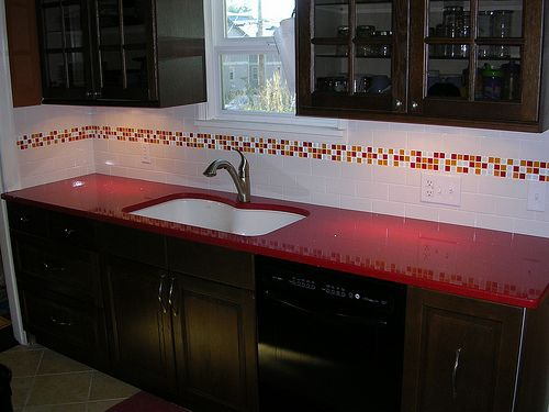 Colorful Kitchen Backsplash Ideas Kitchen Color Ideas With Black Cabinets Red Kitchen